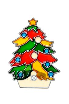 Free Colorful Christmas Tree Decoration Made From Stain Stock Photos - 16988083