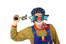 Free Clown With Bicycle Horn Royalty Free Stock Photography - 16988087