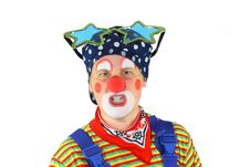 Free Clown Is Angry Royalty Free Stock Image - 16988136