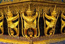 Garuda Statue In The Temple,bangkok Royalty Free Stock Photos