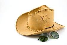 Free Cowboy Hat And Sunglasses Royalty Free Stock Photography - 16988557