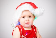 Free Baby In Santa Claus Hat Royalty Free Stock Photo - 16988955