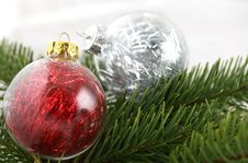 Free Christmas Decoration Bubles Royalty Free Stock Image - 16988976