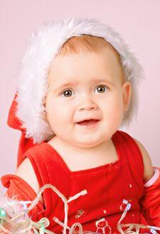 Free Baby In Santa Claus Hat Stock Image - 16989001