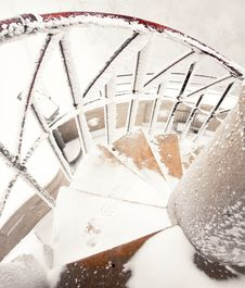 Free Stairs In Winter Stock Photography - 16989062