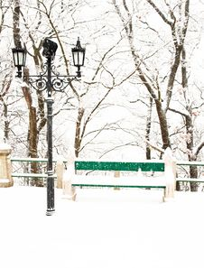 Free Nice Park In Winter Royalty Free Stock Photo - 16989085