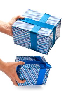 Free Gifts In Man S Hands Stock Photo - 16989150
