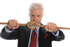 Free Businessman Pulling A Rope Stock Photography - 16989292