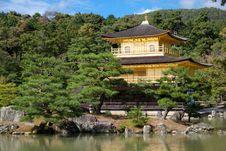 Free Kinkaku-ji Golden Pavilion Royalty Free Stock Photos - 16989308