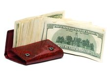 Free Wallet With Hundred Dollars Stock Photo - 16989450