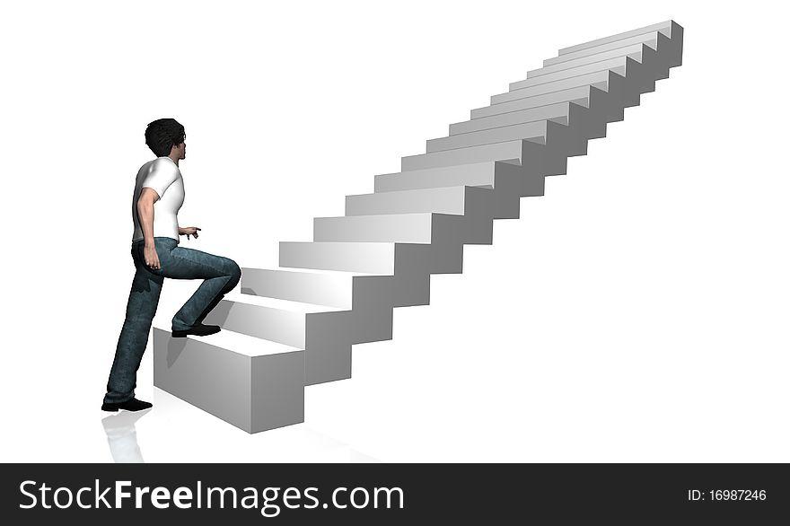 Going up stairways 1