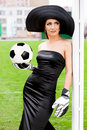 Free Woman With Football Ball Royalty Free Stock Photography - 16990647