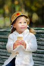Free Dreaming Girl In Autumn Park Stock Images - 16993734