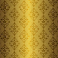 Free Golden Floral Seamless Pattern Royalty Free Stock Photo - 16999455