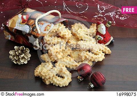Free Christmas Cookies Royalty Free Stock Photo - 16998075
