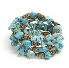 Blue Bracelet With Turquoise Royalty Free Stock Photo