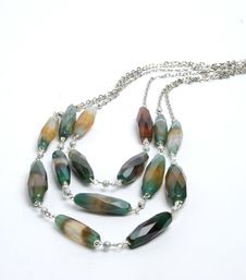 Free Necklace With Crazy Agate Stock Photos - 16990873