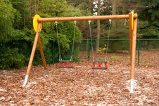 Free Empty Swings Royalty Free Stock Photo - 16990945