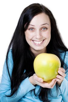 Free Girl Holding Yellow Pomelo Stock Image - 16991091