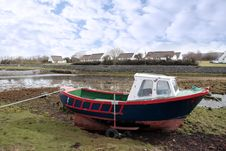 Free Old Fishing Boat Moored Stock Photo - 16991440
