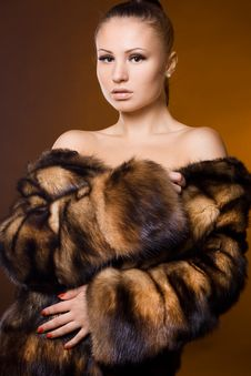 Free Woman In A Fur Coat Stock Photos - 16991493