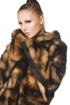 Free Woman In A Fur Coat Royalty Free Stock Photography - 16991597