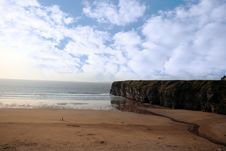 Free Walkers And The Ballybunion Cliffs Stock Image - 16991611