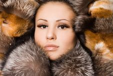 Free Woman In A Fur Coat Stock Images - 16991704