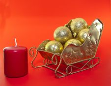 Free Christmas Sleigh Decorations Stock Photos - 16991933