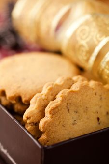 Free Cookies For Christmas In A Gift Box Royalty Free Stock Image - 16993096