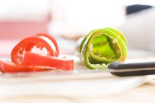 Free Cuted Pieces Of Pepper Royalty Free Stock Image - 16994136