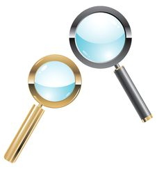 Free Vector Illustration Of Two Metal Magnifiers Stock Image - 16994231