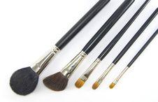 Professional Make-up Brushes. Stock Photography