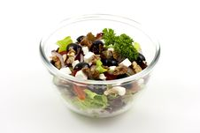 Vegetable Salad With Cheese Royalty Free Stock Image