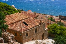 Free House And Red Roof Monevasia, Greece Stock Image - 16995671
