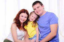 Free Mother, A Young Father And Young Daughter Royalty Free Stock Photo - 16995945