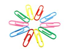 Free Flower From Paper Clips Stock Images - 16997214