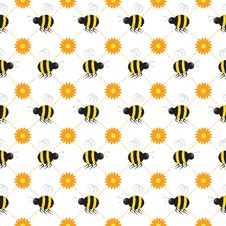 Free Buzzy Beehive Seamless Tile Royalty Free Stock Photography - 16997227