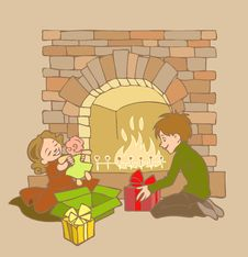 Free Fireplace Royalty Free Stock Image - 16997396