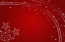 Free Christmas Card Red, Stars And Flowers Stock Photography - 16997562
