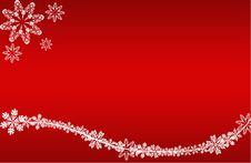 Free Christmas Card Red, Flowers Royalty Free Stock Photo - 16997855