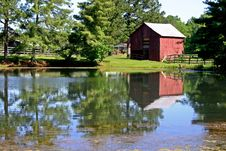 Barn Reflection Stock Images