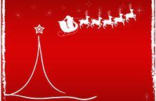 Christmas Card Red, Stars Santa Claus Royalty Free Stock Image