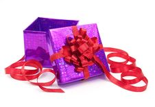 Free Gift Box With Red Bow Royalty Free Stock Photography - 16998407