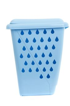 Free Empty Recycling Bin On White Royalty Free Stock Photos - 16998818