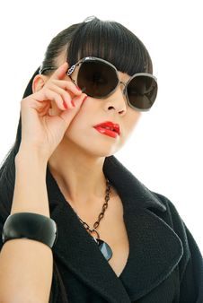 Free Fashionable Girl Royalty Free Stock Photo - 16998835