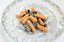 Free Ashtray With Cigarette Butts Stock Image - 16999181