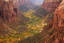 Free Zion Canton Aerial Vista Stock Photography - 16999912