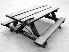 Free Park Bench - Winter Stock Photography - 171202