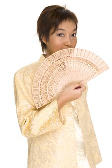 Free Asian Model With Fan 1 Royalty Free Stock Images - 171499
